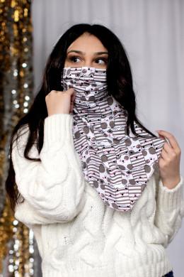 Маска-шейный платок 107м Котики